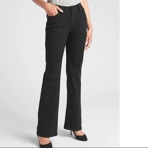 NWT Gap Mid Rise Long & Lean Jeans 26 Black v71